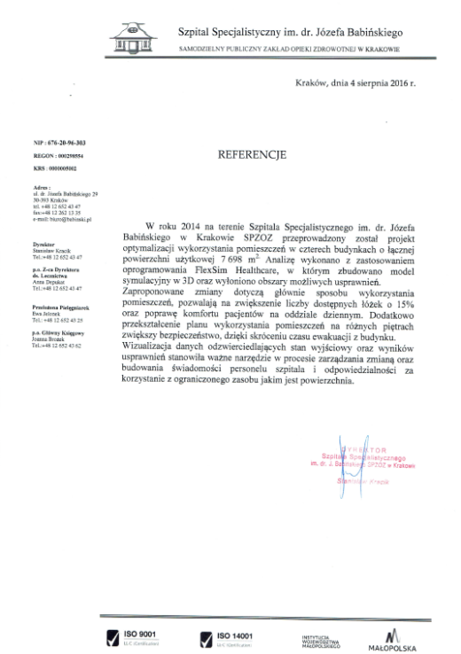 referencje_szpital_optymalizacja_wykorzystania_pomieszczen