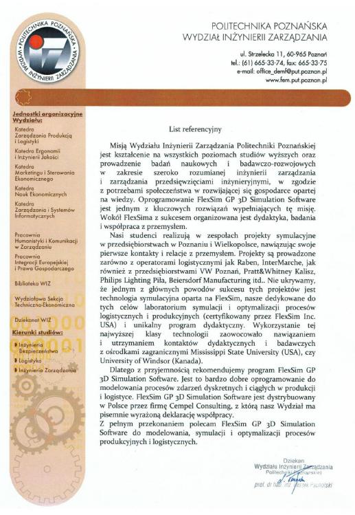referencje_politechnika_poznanska_wydzial_inzynierii_zarzadzania