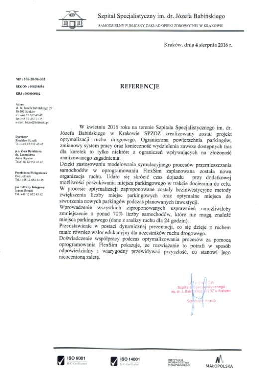referencje_szpital_optymalizacja_ruchu_drogowego